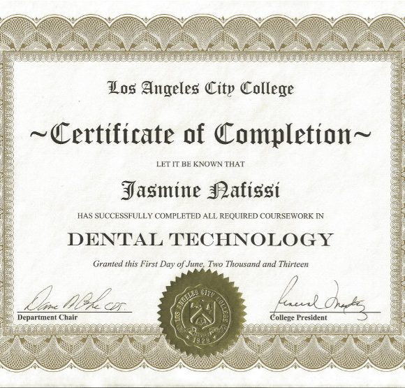 Dental Tech Certificate